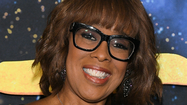 Gayle King wearing glasses on the red carpet