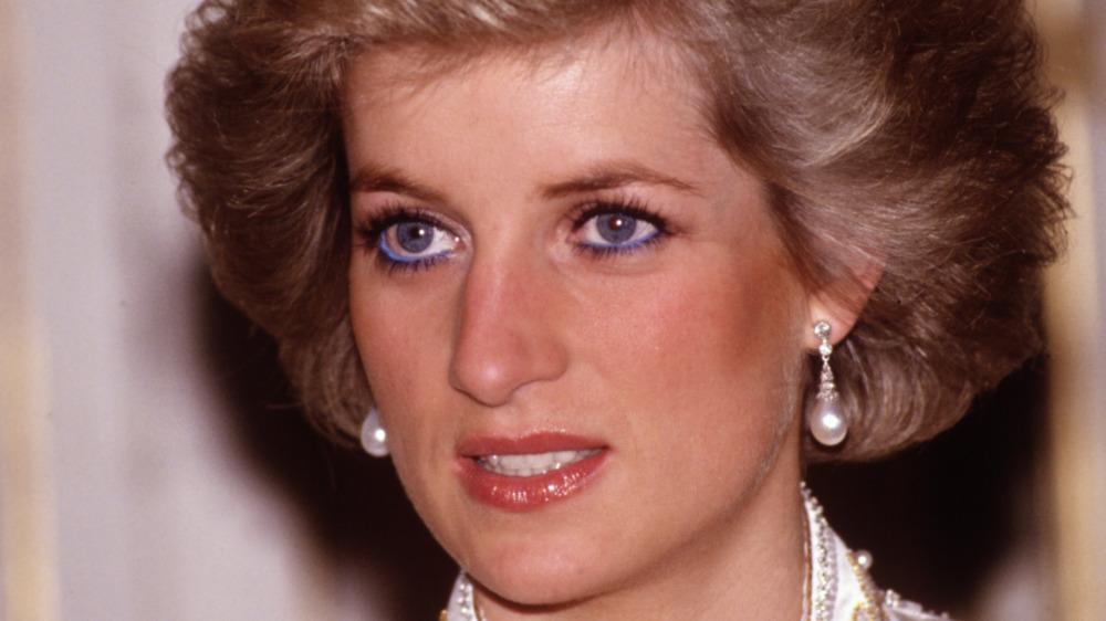 Princess Diana staring off