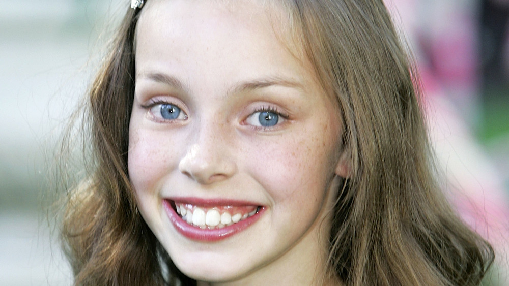 """Julia Winter smiles at the U.K. premiere of """"Charlie and the Chocolate Factory"""""""
