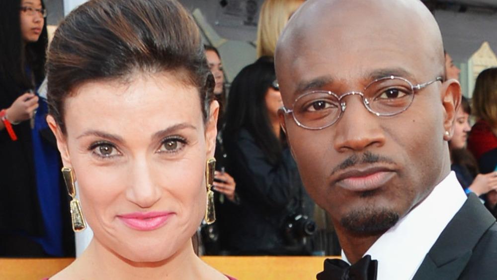 close-up of Idina Menzel and Taye Diggs