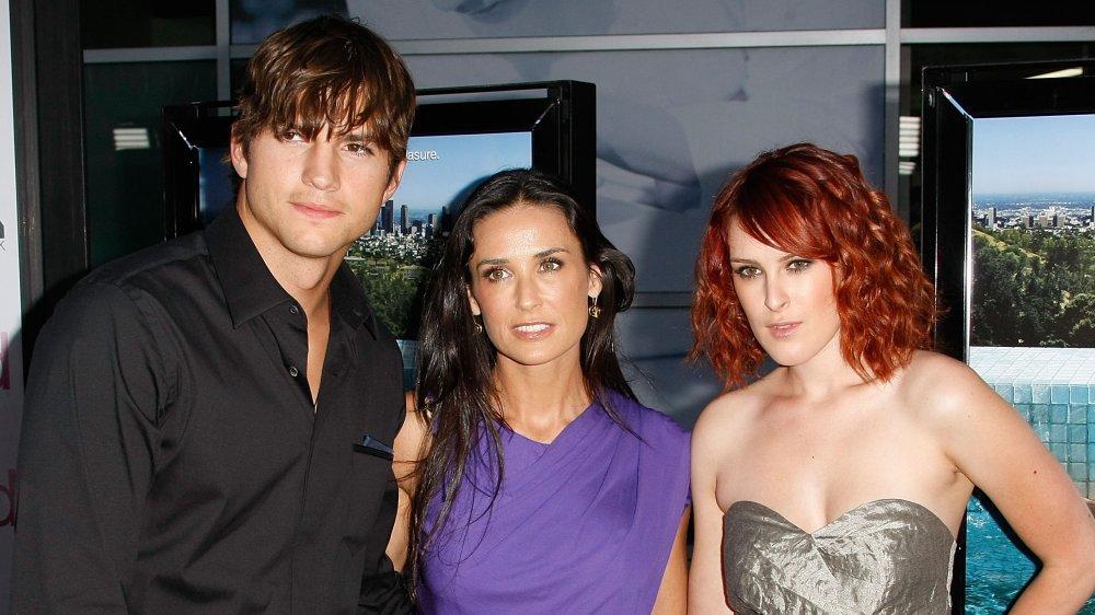 Ashton Kutcher, Demi Moore, and Rumer Willis