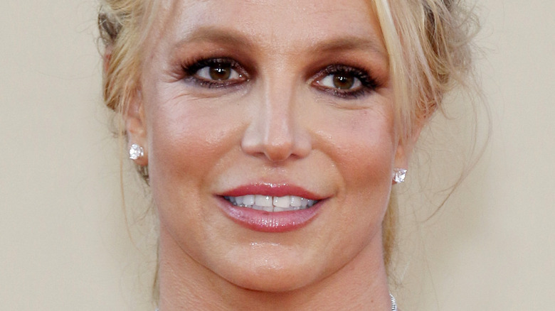Britney Spears smiling on the red carpet