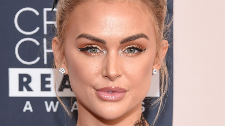 Lala Kent purses her lips on red carpet
