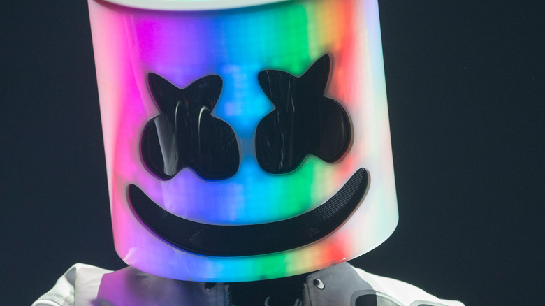 Marshmello performs at an event