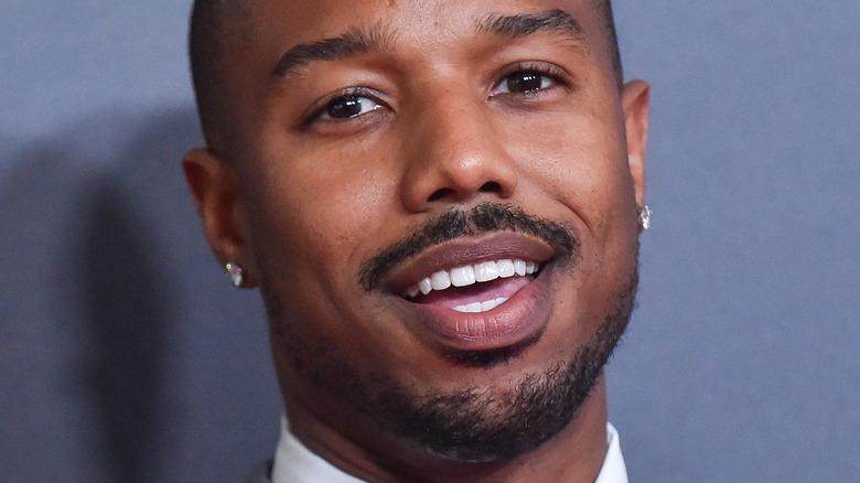 Michael B Jordan smiling