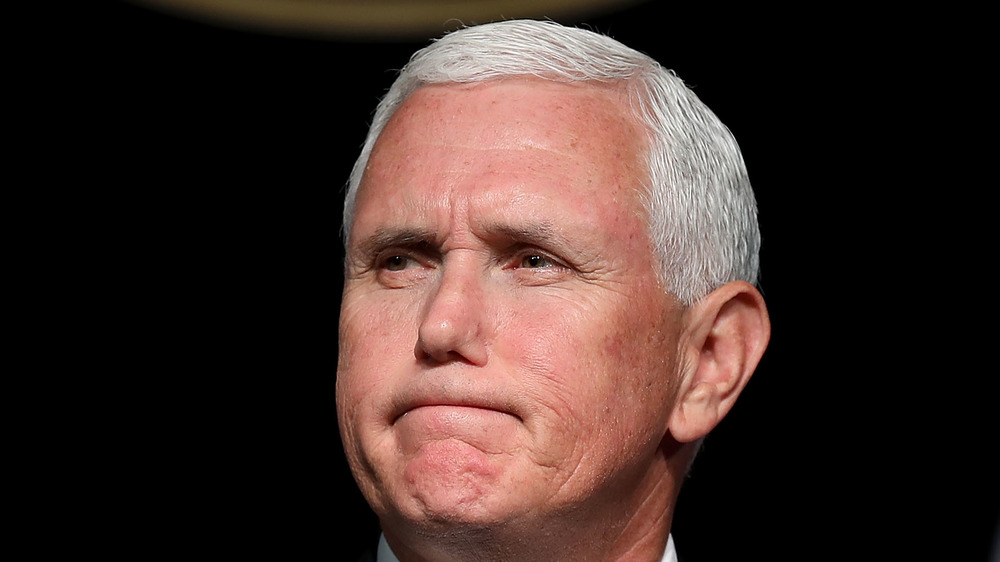 Mike Pence at the Pentagon August 2020