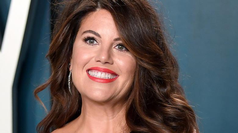 Monica Lewinsky at the 2020 Vanity Fair Oscars party
