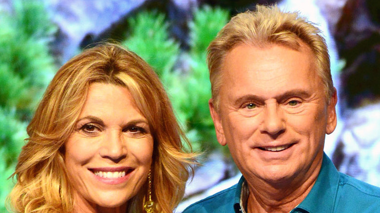 Vanna White and Pat Sajak attend a taping of the Wheel of Fortune's 35th Anniversary Season
