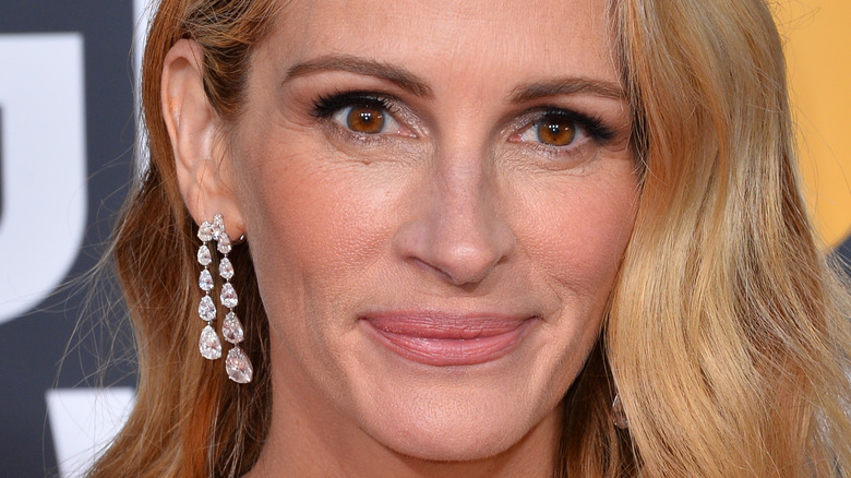 Julia Roberts poses on the red carpet