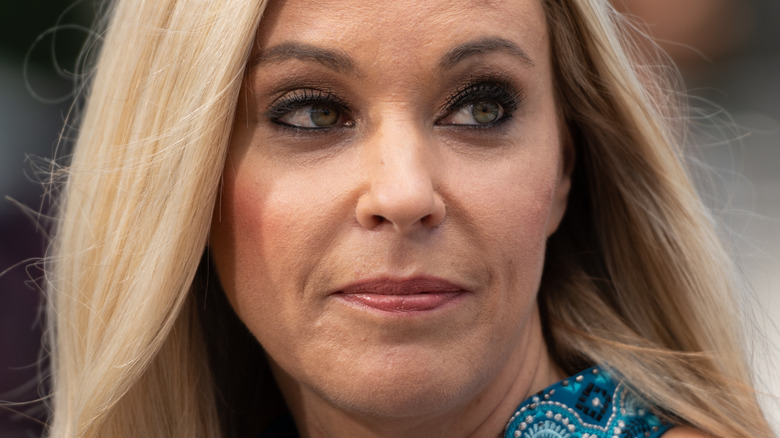 Kate Gosselin poses at an event