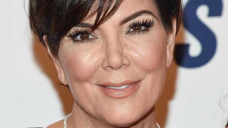 Kris Jenner smiling on the red carpet