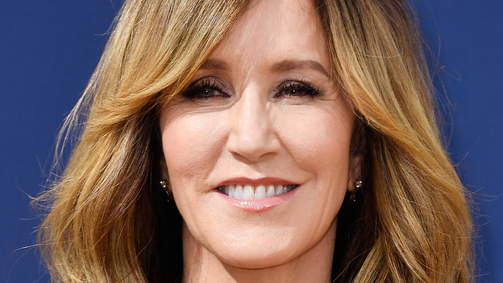 Felicity Huffman smiling on the red carpet