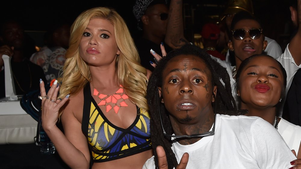 Chanel West Coast and Lil Wayne at an event