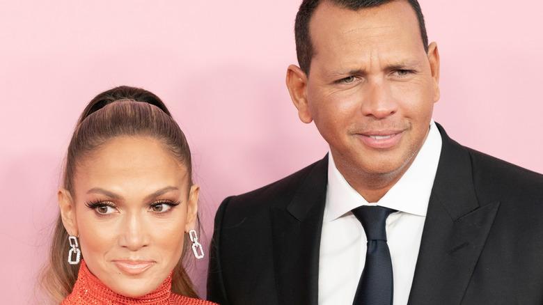 Jennifer Lopez and Alex Rodriguez, red carpet