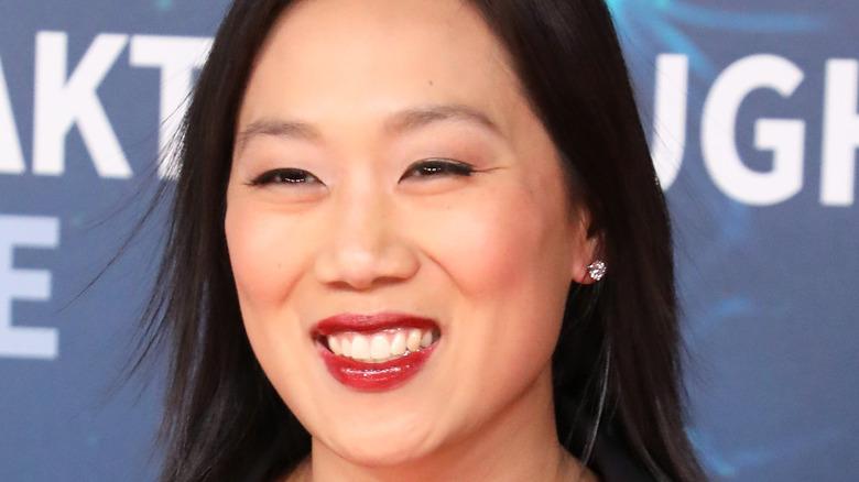 Priscilla Chan smiles on red carpet