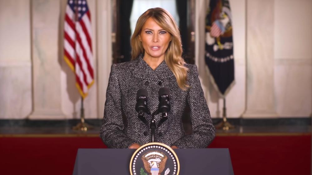 Melania Trump's farewell speech