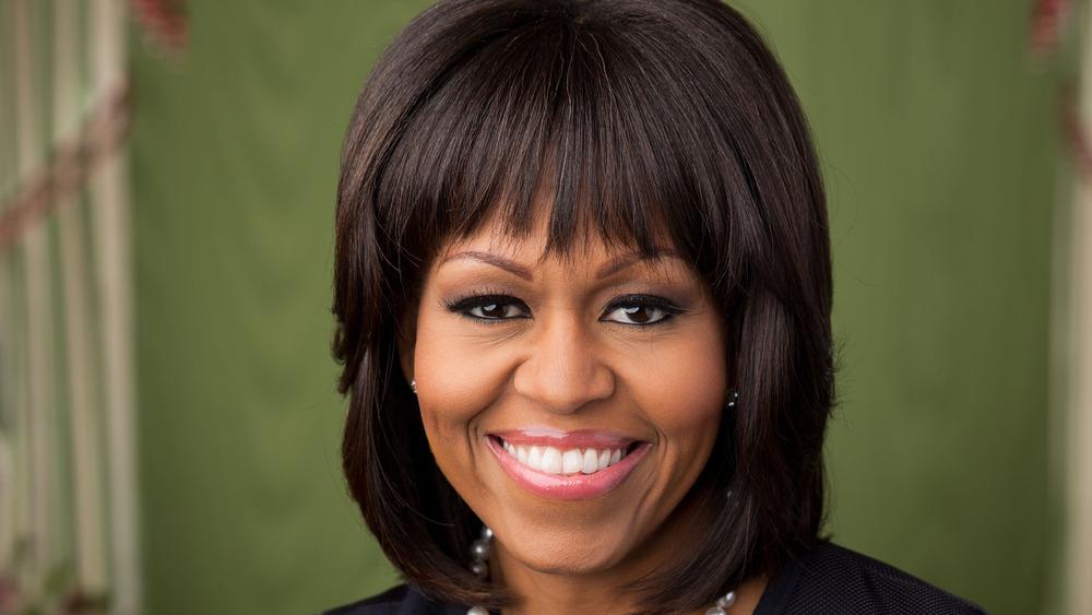 Michelle Obama grinning