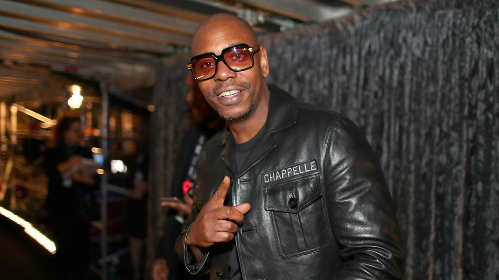 Dave Chappelle at the 60th Annual Grammy Awards