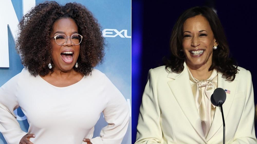 Oprah Winfrey and Kamala Harris