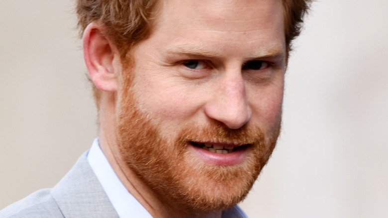 Prince Harry looking to the side