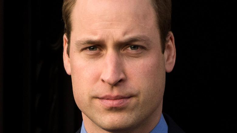 Prince William furrowed brow