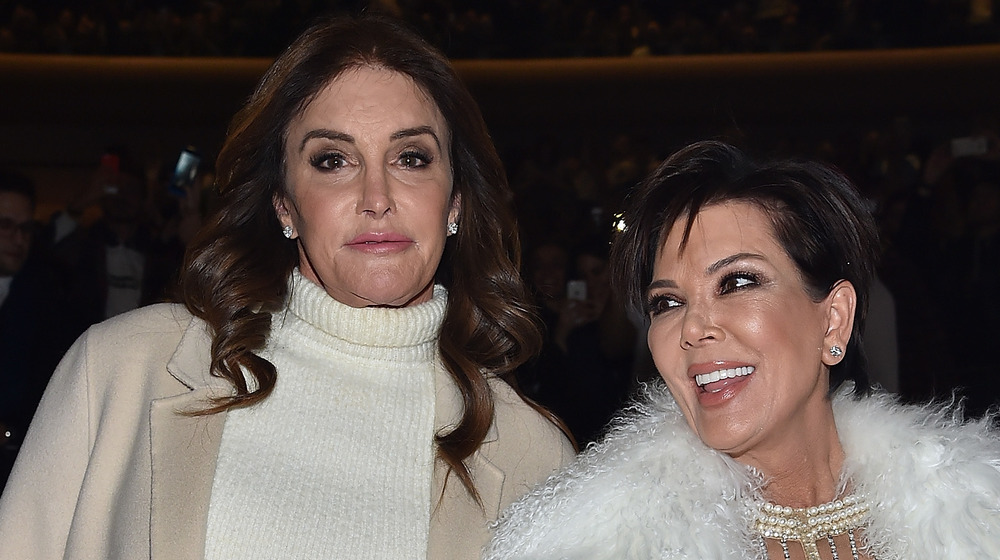 Caitlyn and Kris Jenner posing