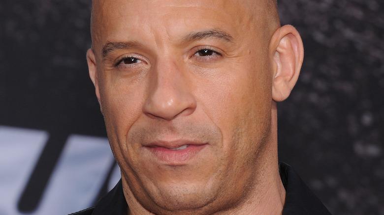 Vin Diesel posing for cameras