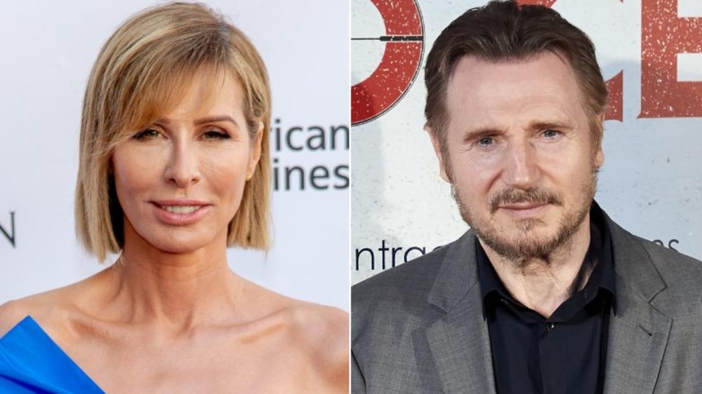 Carole Radziwill; Liam Neeson