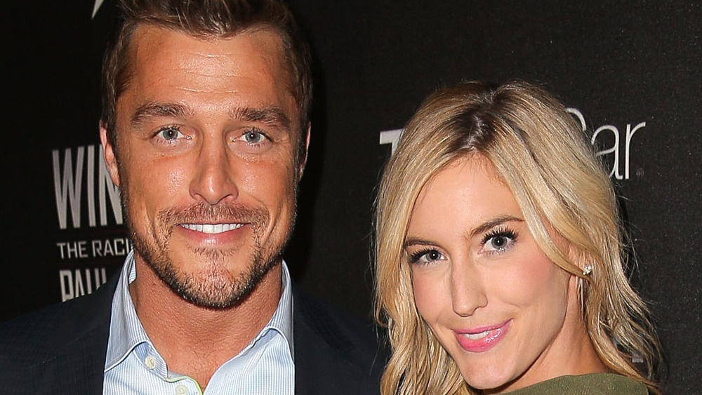 Chris Soules and Whitney Bischoff smiling