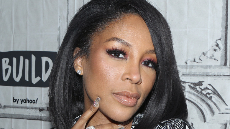 K Michelle on the red carpet