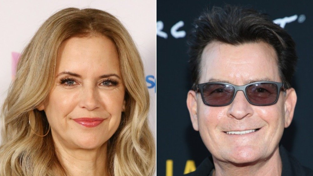 Kelly Preston and Charlie Sheen