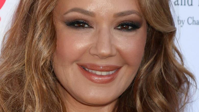 Leah Remini smiling