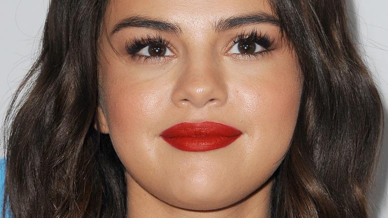 Selena Gomez looking up
