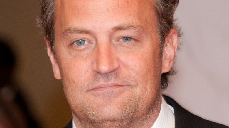 Matthew Perry smiles on the red carpet