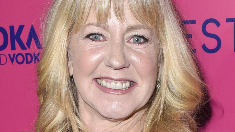 Tonya Harding with wide smile at an event