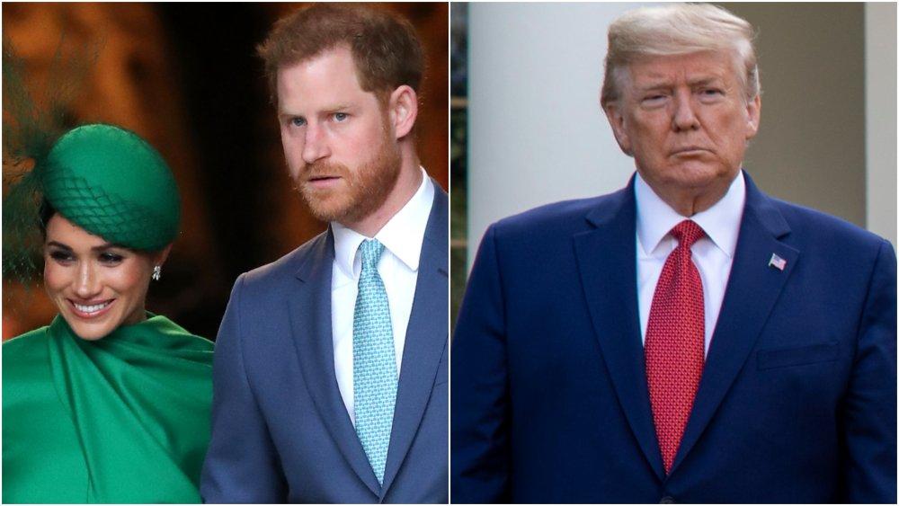 Meghan Markle, Prince Harry, President Trump