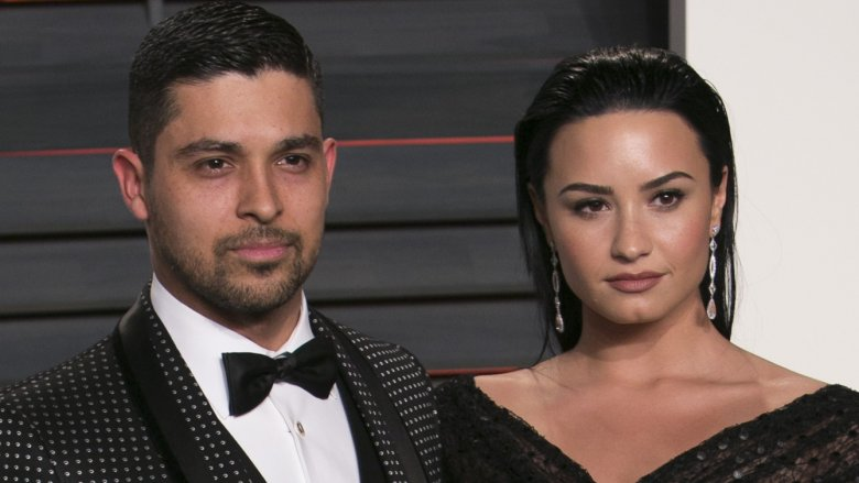 Wilmer Valderrama and Demi Lovato at the 2016 Vanity Fair Oscar party