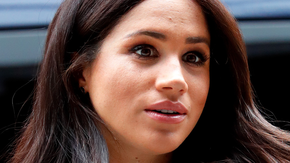 Meghan Markle staring into distance