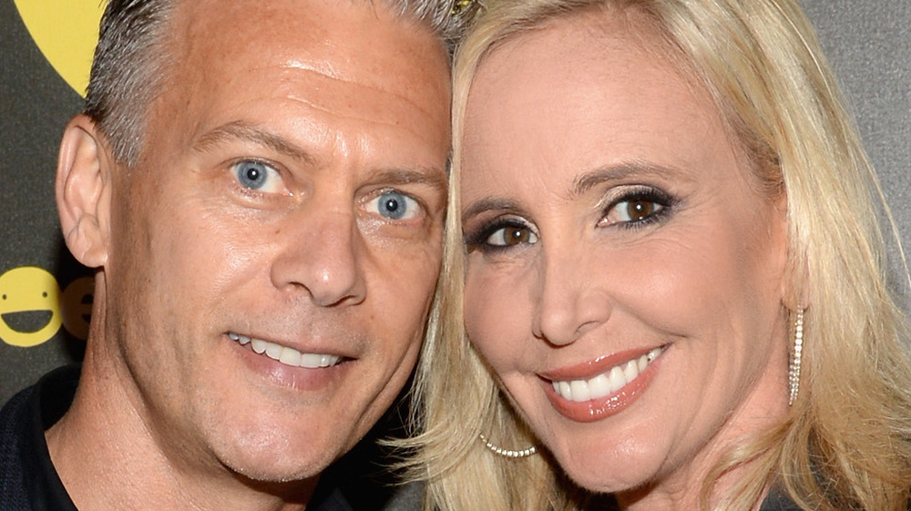 Shannon and David Beador on a red carpet