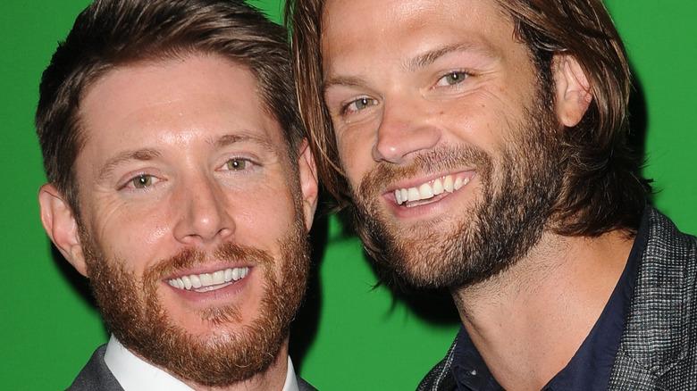 Jensen Ackles and Jared Padalecki smiling