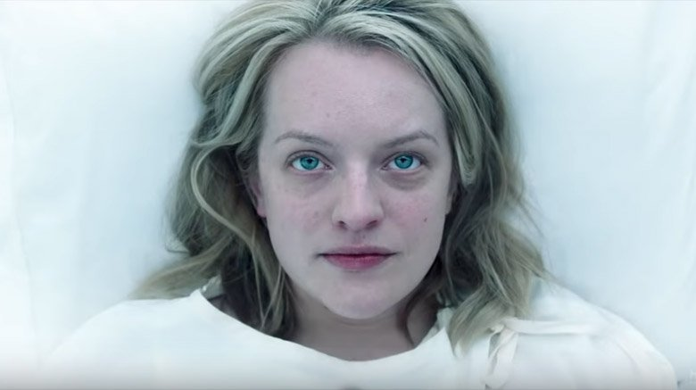 Offred's close up in The Handmaid's Tale