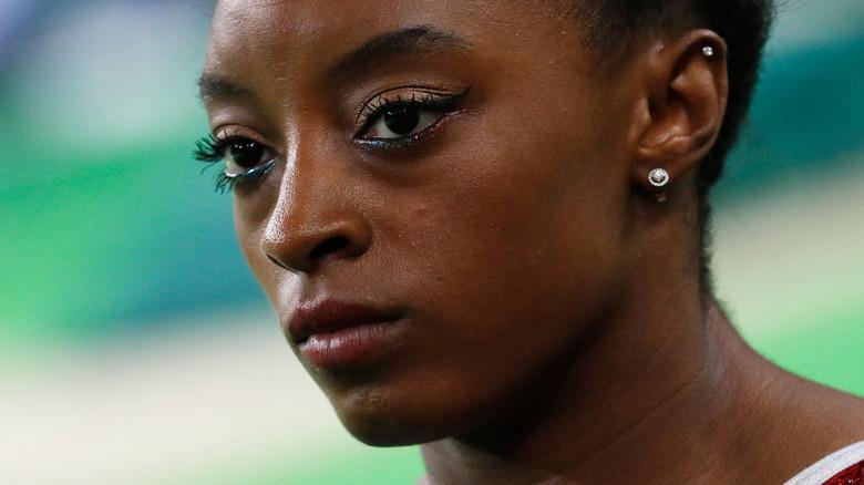 Simone Biles looking determined