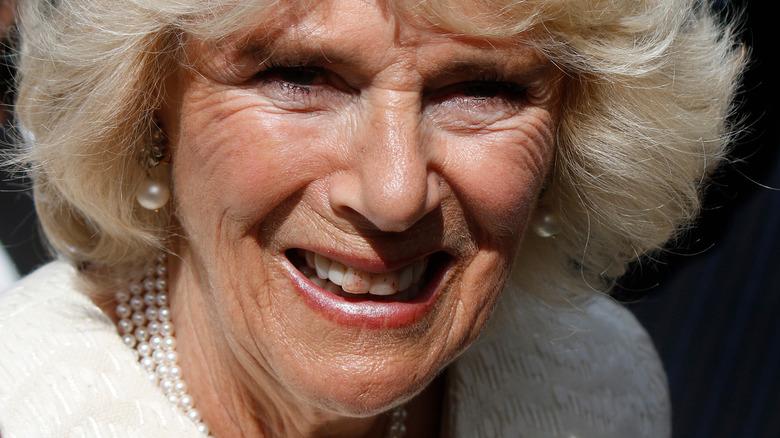 Camilla Parker Bowles lipstick on teeth