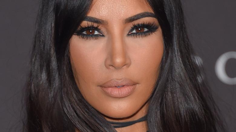 Kim Kardashian with nude lipstick