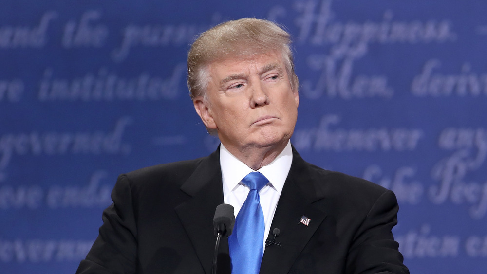 Donald Trump thinking at a debate