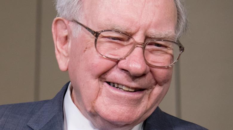 Warren Buffett laughing
