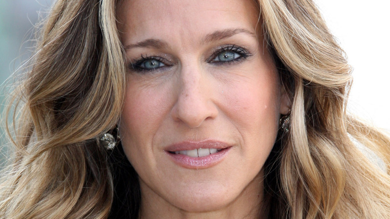 Sarah Jessica Parker with a serious expression