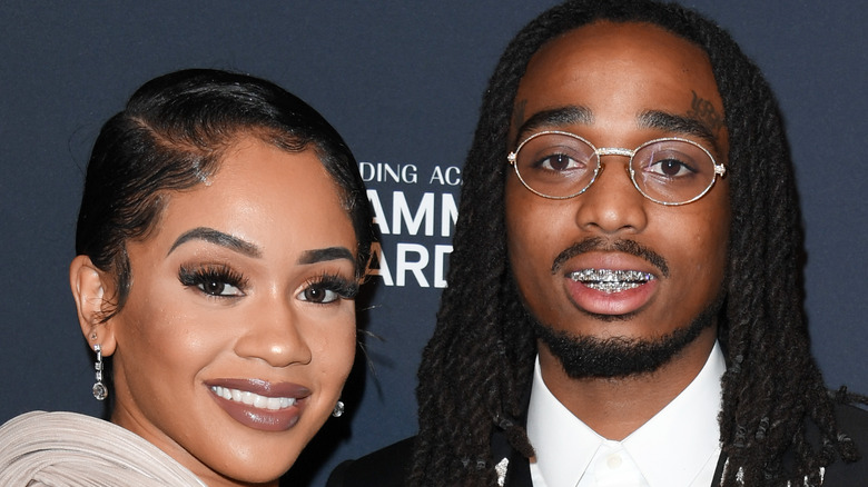 """Saweetie and Quavo attends the Pre-GRAMMY Gala and GRAMMY Salute to Industry Icons Honoring Sean """"Diddy"""" Combs"""