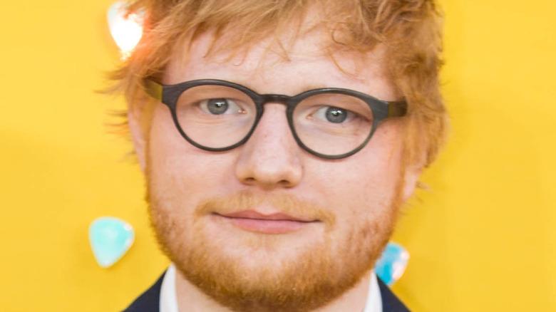 Ed Sheeran on the red carpet