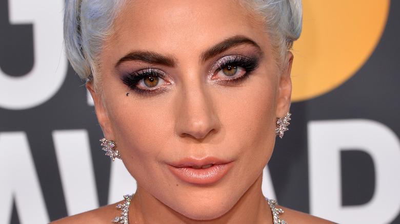 Lady Gaga gazing in front